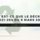 Qu'est-ce que le décret N°2021-254 du 9 mars 2021 ?
